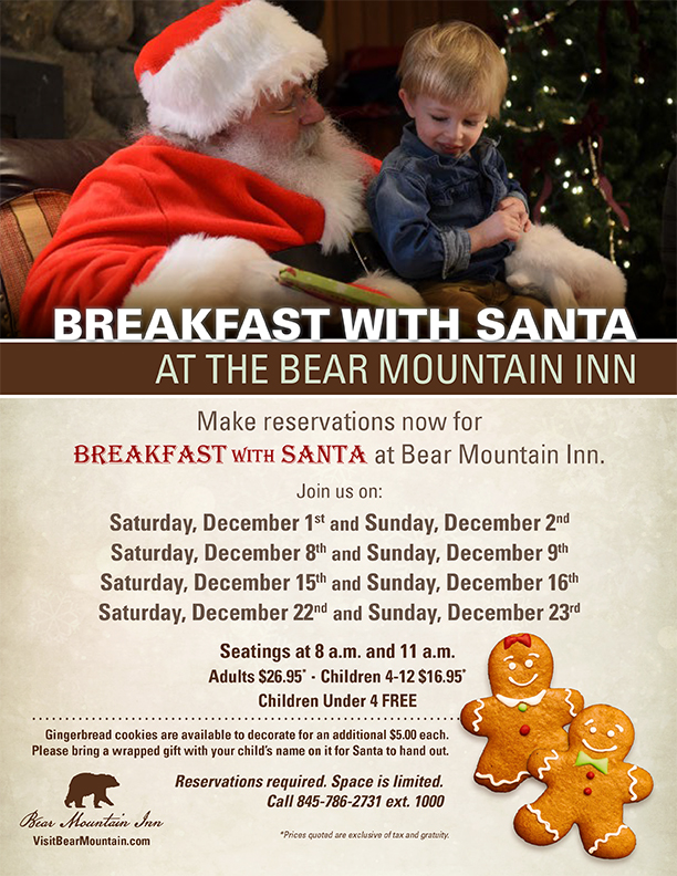 Breakfast with Santa at Bear Mountain